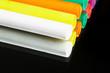 canvas print picture abstrakt - farbenfrohe knetmasse auf spiegel