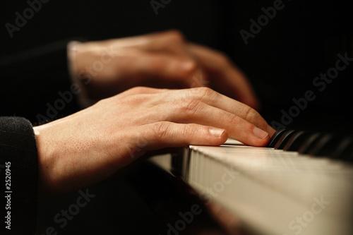 Fotografie, Obraz  piano hands