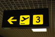 flughafen schild abflug airport sign departure