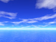 3d sea and sky view