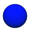 canvas print picture - blauer ball - blue ball