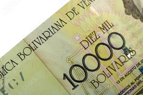 Photo ten thousand bolivares banknote