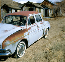 Old Rusty Renault Dauphine In ...