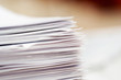 canvas print picture - stack of papers