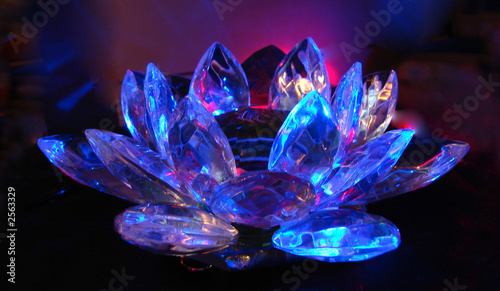 a lilac-blue crystal lotus #2563329