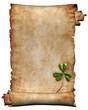 canvas print picture antique manuscript paper background isolated