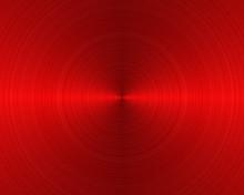 Brushed Metal Texture Background Red Circular