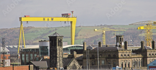 industrial belfast Canvas Print