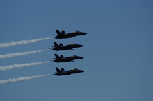 Blue Angels In Vertical Formation