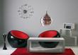canvas print picture - lounge, 70er, designerzimmer