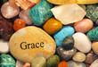 canvas print picture - stone of grace