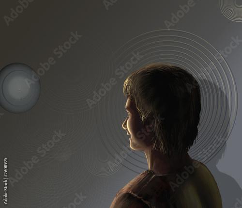 Fototapeta boy watching a target obraz na płótnie