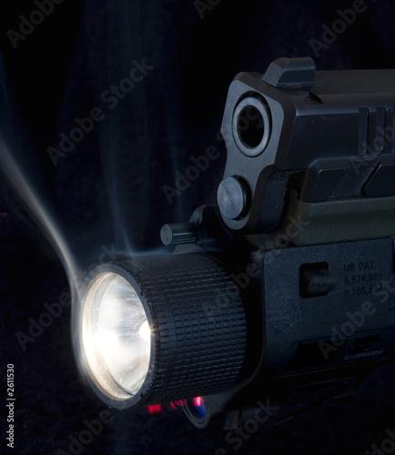 lighted gun