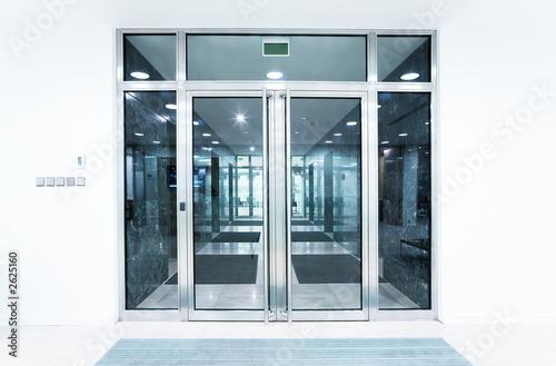 Photo  glass doors