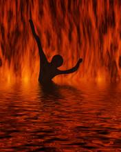 Bathing On Fire