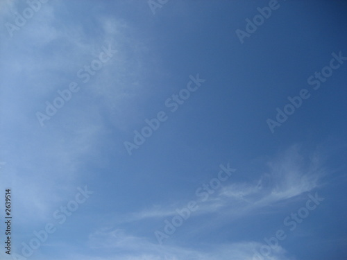 Slika na platnu blue sky and wispy clouds