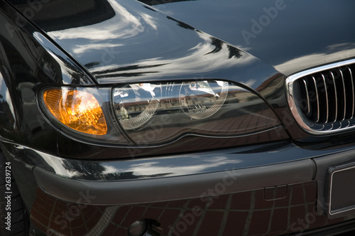Photo  head lights of a car