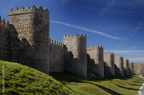 avila, spain, wall and towers