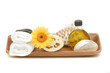 canvas print picture spa objects in tray