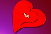 Angie - 3d Gerendertes Herz