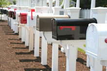 Long Row Of Mailboxes