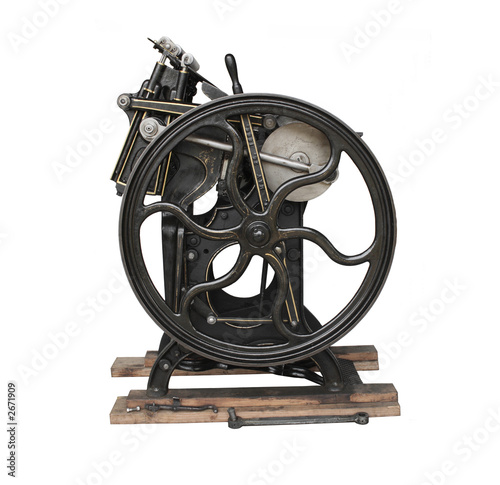antique black printing press - Buy this stock photo and explore