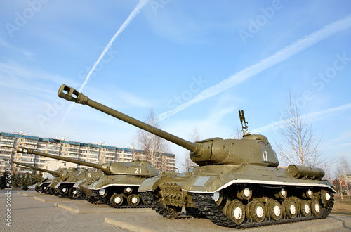 russian tank - memorial to the victory in the wwii Wallpaper Mural