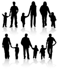 Silhouettes Of Parents With Ch...