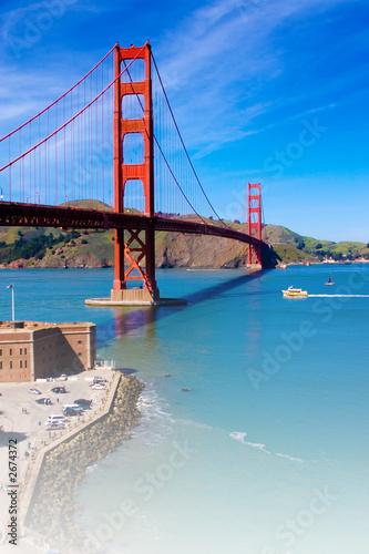 Foto-Kassettenrollo premium - golden gate bridge, san francisco, california, usa