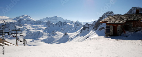 Fotografiet ski en alpes