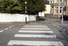A British Pedestrian Zebra Crossing.
