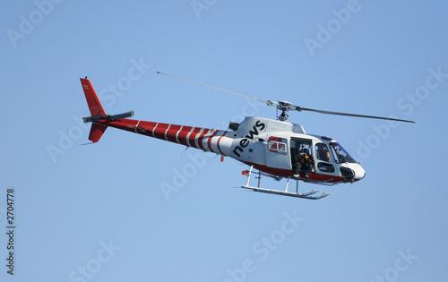 Türaufkleber Hubschrauber news chopper