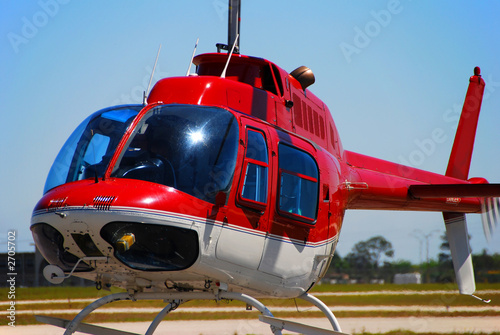 bell 207 helicopter taking off