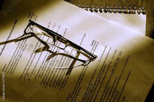 maths sous reflet de lunettes Canvas Print