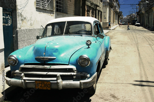 Canvas Prints Cars from Cuba havana street - cross process