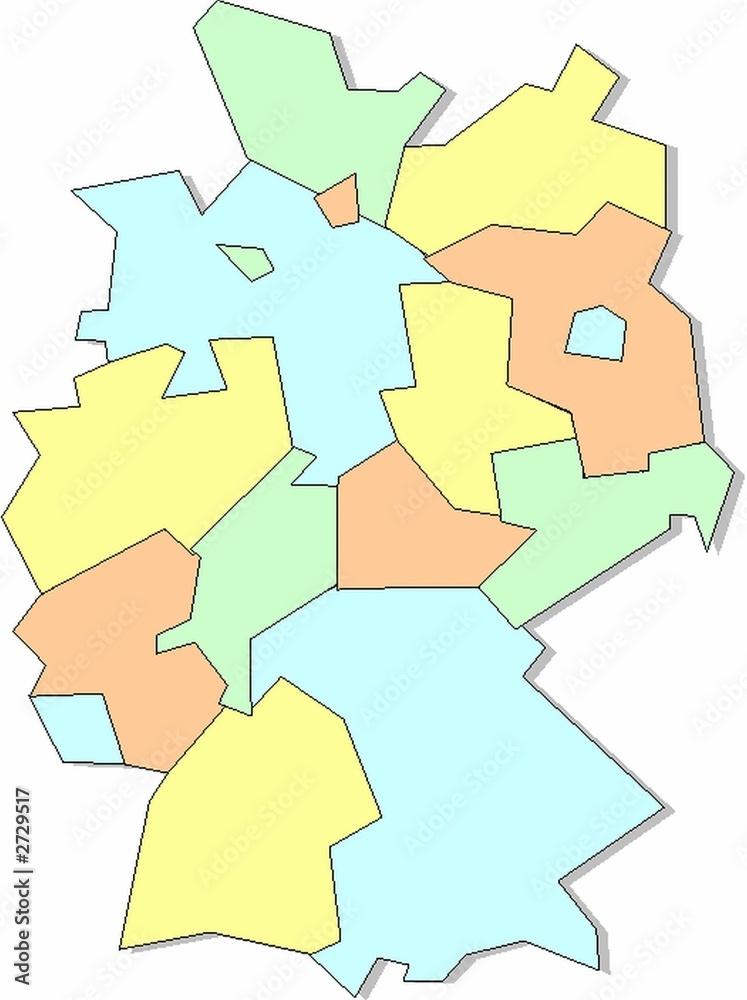 Gamesageddon Stock Karte Bundeslander Deutschland