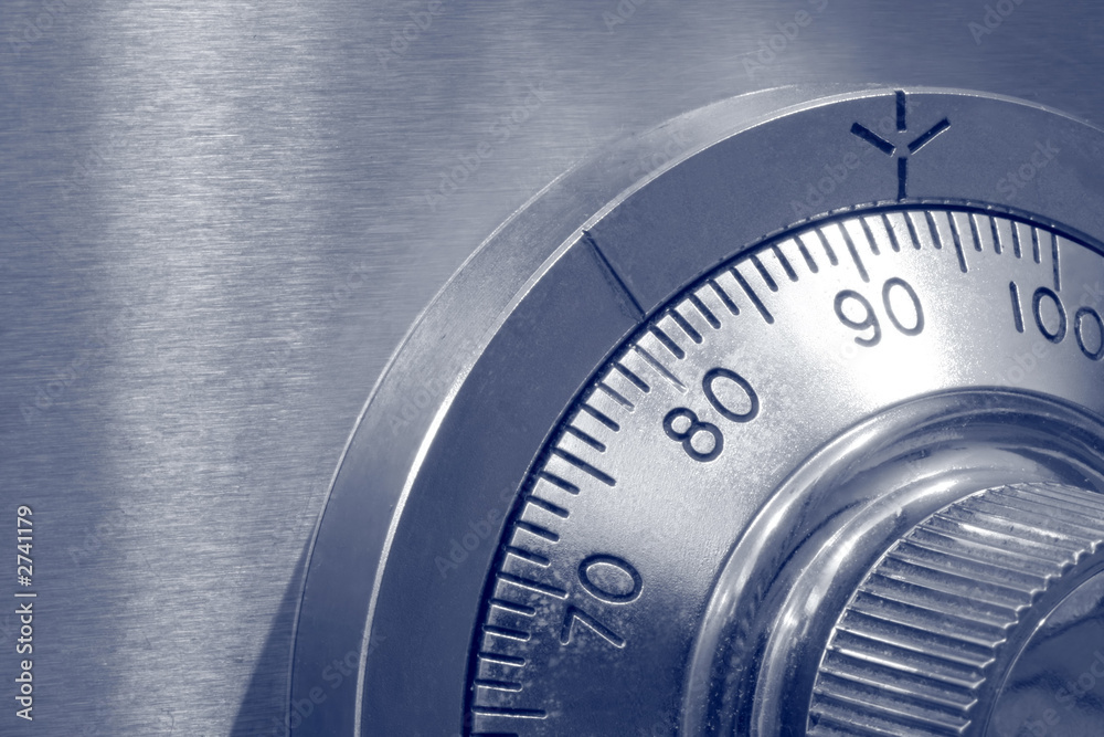 Fototapety, obrazy: closeup of combination safe lock