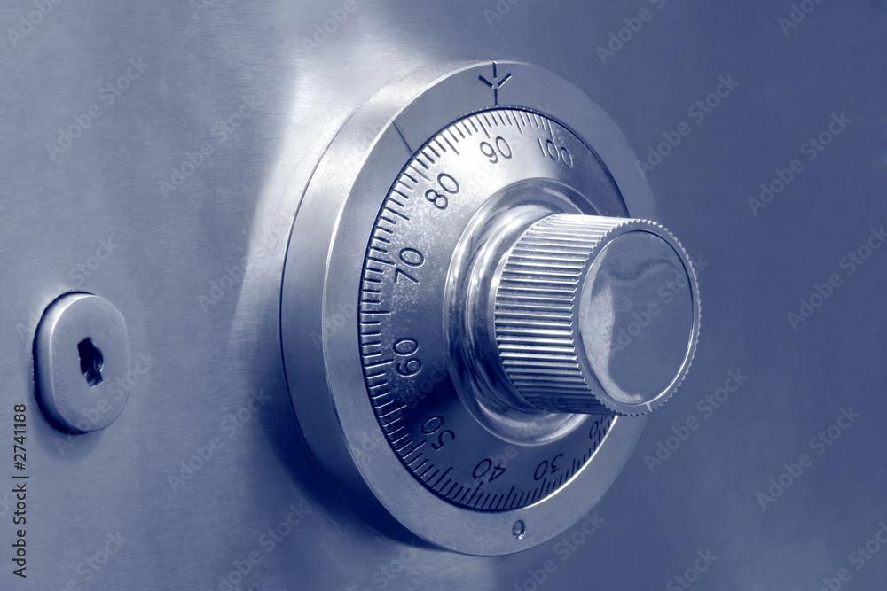 Fototapeta combination safe lock and key lock