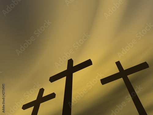 crosses under the gloomy sky Fototapeta