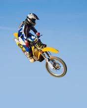 High Flying Motorcycle - Yellow
