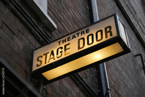 Canvas Print stage door