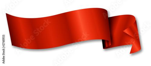 Obraz na plátně red ribbon / banner