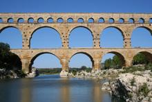 Aqueduct At Pont Du Gard Southern France