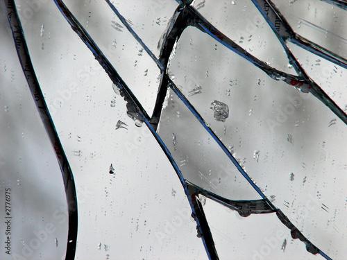 fototapeta na drzwi i meble shattered mirror