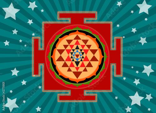 shree yantra Fototapet