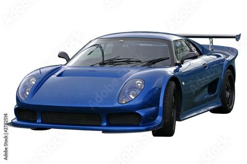 Foto-Doppelrollo - blue supercar (von Christopher Nolan)