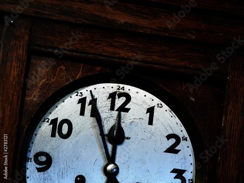 Staande foto Vintage Poster old clock#1