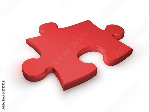 Photo puzzleteil rot - puzzle piece red