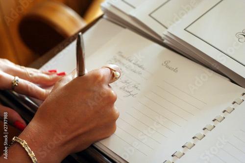 Carta da parati guest book signing