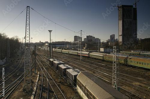 Fototapeta rail transportation obraz na płótnie